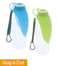 持ち運びできるシリコン製給水器 ポータブルウォーターボトル リーフ